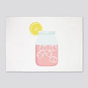 Glass Mason Jar Pink Lemonade Beverage Drink 5'x7'