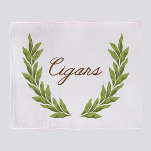 Cigars Throw Blanket