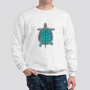 Turtle in Turquoise Sweatshirt