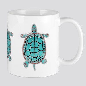 3 Turtles in Turquoise Mug