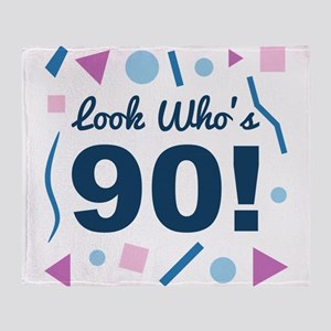 Look Who's 90 Throw Blanket