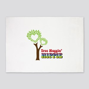 Tree huggin Hippie 5'x7'Area Rug