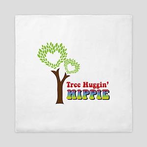 Tree huggin Hippie Queen Duvet