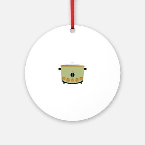 Crock Pot Slow Cooker Ornament (Round)