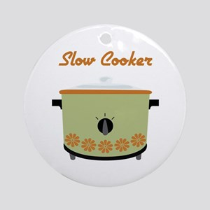 Slow Cooker Ornament (Round)