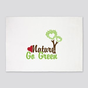 Nature Go Green 5'x7'Area Rug