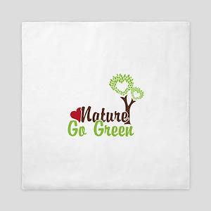 Nature Go Green Queen Duvet