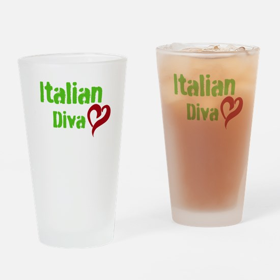 ITALIAN DIVA Drinking Glass