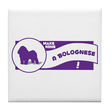 Make Mine Bolognese Tile Coaster