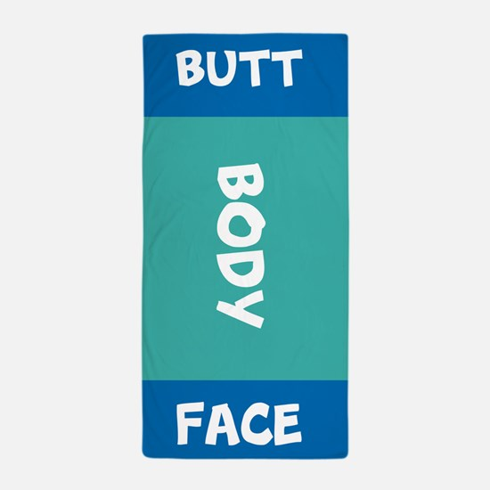 Butt Face Body Towel Beach Towel