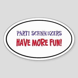 Parti Schnauzers 1.0 Oval Sticker