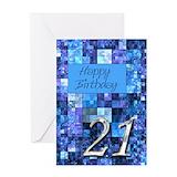 21 birthday Greeting Cards