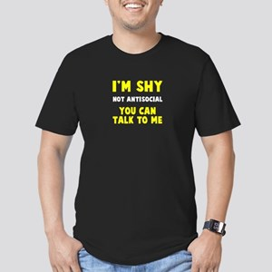 I'm Shy Men's Fitted T-Shirt (dark)
