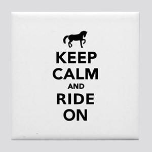 Keep calm and ride on horse Tile Coaster