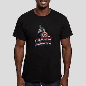 Captain America Classi Men's Fitted T-Shirt (dark)