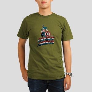 Captain America Class Organic Men's T-Shirt (dark)