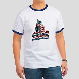 Captain America Classic Ringer T