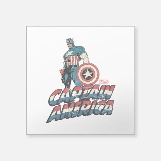 "Captain America Classic Square Sticker 3"" x 3"""