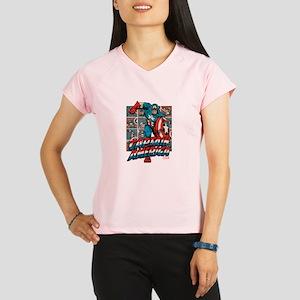 Captain America Classic Performance Dry T-Shirt