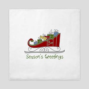 Seasons Greetings Queen Duvet