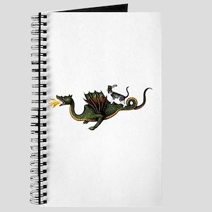 Steampunk Cat Riding A Dragon Journal