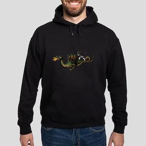 Steampunk Cat Riding A Dragon Hoodie (dark)