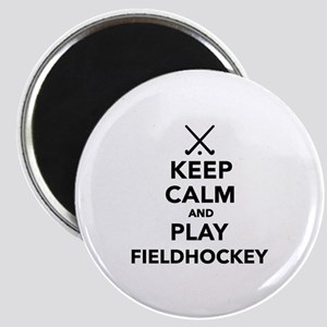 Keep calm and play Field Hockey Magnet