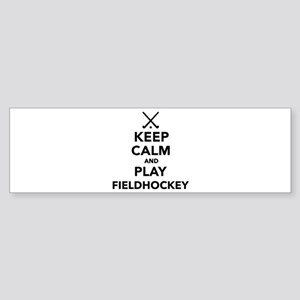 Keep calm and play Field Hockey Sticker (Bumper)