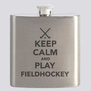 Keep calm and play Field Hockey Flask