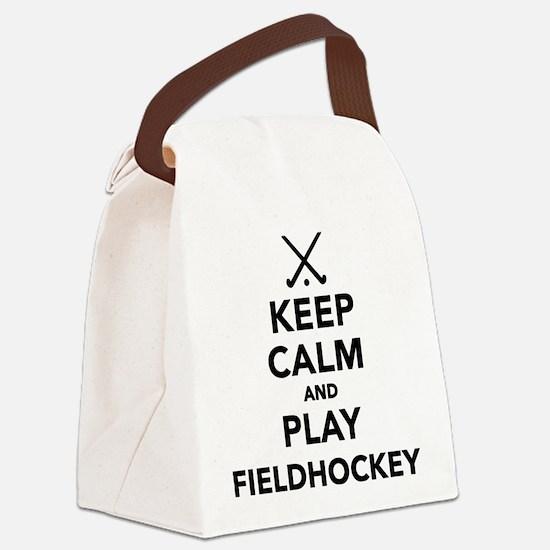 Keep calm and play Field Hockey Canvas Lunch Bag