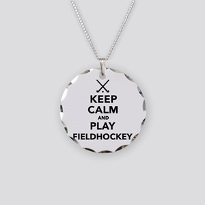 Keep calm and play Field Hoc Necklace Circle Charm