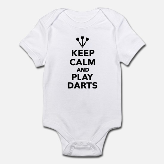 Keep calm and play Darts Infant Bodysuit