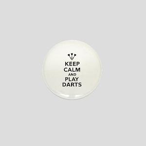 Keep calm and play Darts Mini Button