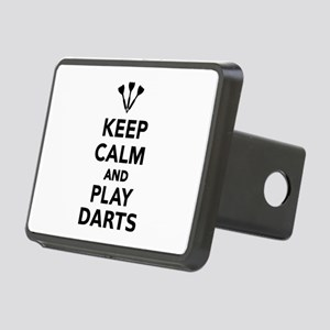 Keep calm and play Darts Rectangular Hitch Cover