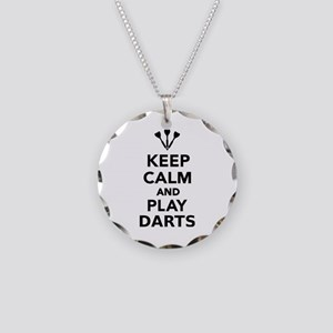 Keep calm and play Darts Necklace Circle Charm
