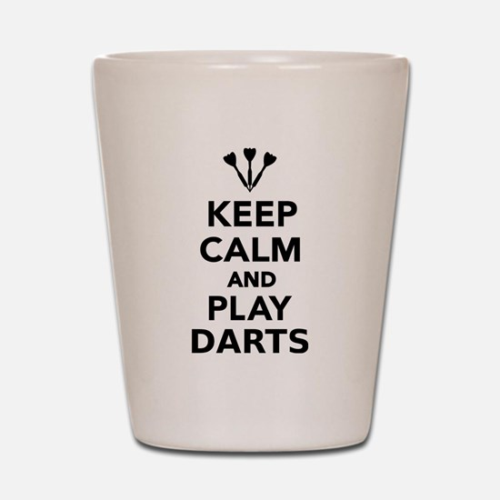 Keep calm and play Darts Shot Glass