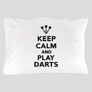Keep calm and play Darts Pillow Case