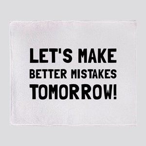 Better Mistakes Throw Blanket