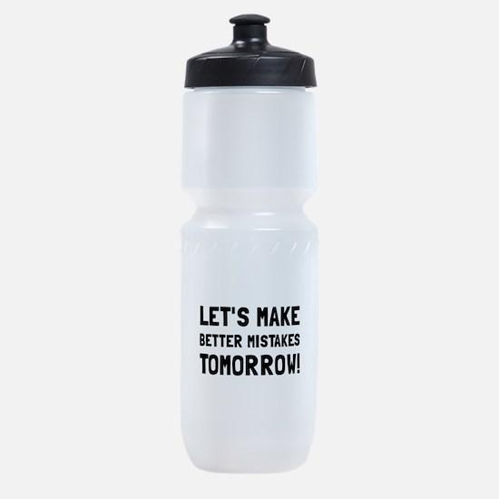 Better Mistakes Sports Bottle