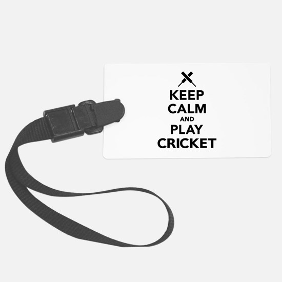 Keep calm and play Cricket Luggage Tag