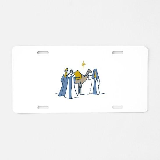 Three Kings Aluminum License Plate