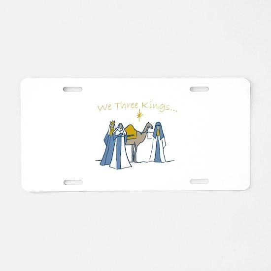 We Three Kings Aluminum License Plate