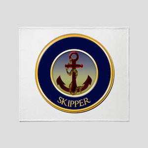 Skipper Nautical Ship's Anchor Throw Blanket