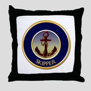 Skipper Nautical Ship's Anchor Throw Pillow
