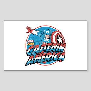 Captain America Vintage Sticker (Rectangle)