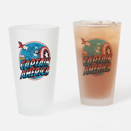 Captain America Vintage Drinking Glass