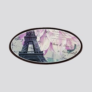 floral paris eiffel tower art Patches