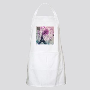 floral paris eiffel tower art Apron
