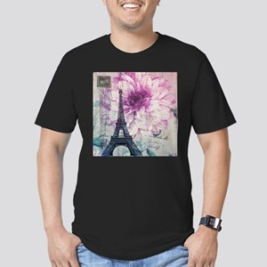 floral paris eiffel tower art T-Shirt