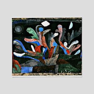 Klee - Picture of a Garden in Dark C Throw Blanket